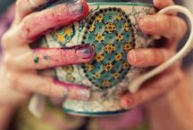 Hatter's tea party / I love tea so much, I am deeply obsessed.  The ritual, the beauty, the slowing down to sip - these things drive me mad in the absolute best way ~ TEA  & some lovely images of coffee & coffee drinks as well.