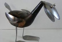 Artsy, Creative and Quirky  Birds / Handmade birds