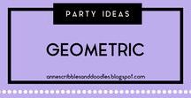Party Ideas {Geometric} | Anne's Scribbles and Doodles / Diamond and Geometric Party DIYs, Decors, Recipes and Inspirations