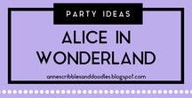 Party Ideas {Alice in Wonderland} | Anne's Scribbles and Doodles / Alice in Wonderland/Through the Looking Glass Party DIYs, Decors, Recipes and Inspirations