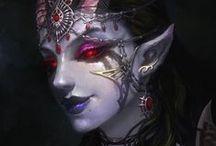 oc: Into the black / dragon   F   darkness   storms   black + purple