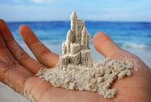 SANDCASTLE,SAND CONSTRUCTION / sandcastle and sand