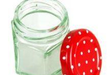 Hexagonal Jars / Hexagonal jam jars are great for chutneys, herb jellies and fruit jams