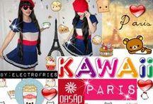 Kawaii Outfits Oasap / Kawaii Fashion Top: http://www.oasap.com/shirts-blouses/40543-classic-color-block-shirt.html/?fuid=137840 $9.90  Skirt: http://www.oasap.com/skirts/29582-salior-pleated-mini-skirt.html/?fuid=137840 $11.29  Beret (hat) : http://www.oasap.com/hats/35429-sweet-candy-color-beret.html/?fuid=137840 $5.90