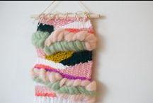 Weaving / A board of weaving inspiration, as well as my own handmade weavings. More of my weaving work can be seen here: https://www.etsy.com/shop/JackieDivesPhoto