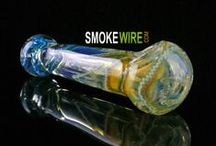 Colorful Glass Pipes Bongs and other Smoking Gear