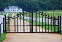 Driveway Gates / Driveway gates photo gallery, garden gate photos, and installation ideas about dual swing gate,Single swing gate,Sliding gate.