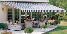Retractable Awnings | ALEKO / Retractable awnings for your patio expand your home's square footage and create an outdoor space for relaxation.Your new patio design is calling!