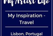 Travel Inspiration - Lisbon / Travel inspiration from my trips to Lisbon, Portugal.  A beautiful city full of gorgeous tiles, wonderful mosaic floors, stunning old world charming architecture, and more.