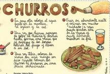 Recipe Illustrations-recetas de cocina ilustradas en espanol.frances e ingles / by concepcion vic