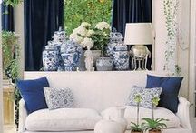 Interiors - Blue & White