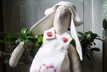 Tilda  world  / adorables munecas artesanales, adoro los conejos / by concepcion vic