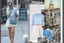 Olivia Palermo / Olivia Palermo has an enviable sense of style and is frequently featured on fashion blogs. The well-dressed socialite mixes feminine classics with contemporary cuts, often pairing vintage dresses with color-blocked blazers.  / by Celebrities in Style