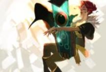 Transistor Wallpapers / Collection of desktop and phone wallpapers for a video game called Transistor