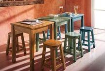 SEDIE E PANCHE DEMAR PINO / Sedie e panche in legno di pino. Ideali per arredare la casa in stile rustico, ma anche alberghi, ristoranti, agriturismo, strutture pubbliche.