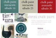 """Cursos y Talleres en Tintura / Cursos de #pinturadecorativa, talleres de #restauración, #tapizado y """"trae tu mueble #chalkpaint"""""""