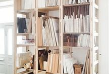DIY Art Tools / organization and storage methods for art supplies and pieces.