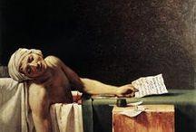 After Jaques Luis David, Death of Marat / by Carmel College Fine Art