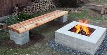 DIY Concrete Fire Features / Indoor and outdoor fire features, including decorations, firepits, fireplaces, fireplace surrounds, and hearths.  #FireFeatures #Cement&Concrete #WhatAmericaIsMadeOf
