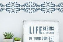 Plantillas Decorativas Cenefas / Las plantillas Living Designs son una solución económica y práctica para pintar y decorar paredes, sólo necesitas rodillo, brocha y pintura. Fácil de aplicar y retirar.