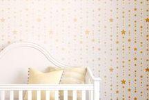 Decoración cuarto de bebe / Ideas para la decoracion cuarto del bebe con plantillas decorativas.