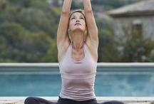 Yoga poses and healthy lifestyle / Yoga poses, healthy food receipes, ourdoor activities