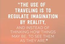 Travel Quotes & Inspiration / Travel & lifestyle quotes to inspire you to live the life you dream of. Stop wasting time today and go after your dreams. Don't dream your life- live your dream!