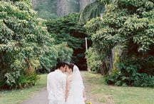 tropical elopement shoot