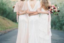 bride + bridesmaids styled shoot