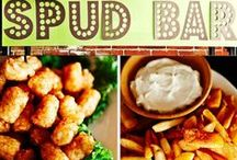 Catering Bars - candy bar, popcorn bar, spuds bar & more