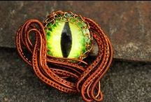moje výrobky wire wrapping / wire wrapping, rings, pendants, my products