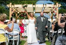 Pergola my wedding / Events that have used the pergola at Hadley Farms Meeting House, as well as ideas for how to decorate the pergola to each person's taste.   From simple elegance to fun and frivolous - the pergola gives couples the option to bring out their creativity!