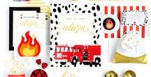 Fire Truck Party Ideas / Fire Truck Birthday Party Ideas, Fireman Party, Fire Truck Party Supplies, Fire Truck Party Decorations, Firefighter Birthday Party, Fire Truck Birthday Party Invitations, Fire Truck Birthday Party Cake Ideas, Fire Truck Birthday Party Food, Fire Truck Party Favors, Firefighter Party Favors, Birthday Party Ideas for Boys, First Birthday Party Ideas for Boys