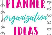 Planner Organization Ideas / Planner organization, bullet journal organization, tips, strategies for staying more organized