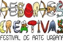 """DESORDES CREATIVAS / # Plataformas de creación/difusión. Desordes Creativas es un festival en el que, desde el año 2009, participan grandes nombres del arte urbano gallego, español e internacional (""""de más a menos""""). Cuenta con una serie de artistas fijos a los que, en cada edición, se unen nuevas figuras. A nivel autonómico, es una de las citas imprescindibles de creadores, aficionados y seguidores. Tiene gran repercusión a nivel nacional."""
