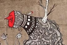"""PERI / # Creadores locales. Artista polifacético, ilustrador y artista urbano. Esmalte, acrílico, tinta, rotulador o pintura plástica son algunos de los materiales con los que crea obras en casi cualquier superficie (mural, cartón, madera, lienzo, papel, tela…). Define su obra como """"pintura anti urbana""""."""