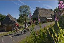 Pays du Velay / L'eau et le feu ont sculpté des décors naturels où l'homme a fait triompher la beauté de l'art. Depuis sa source au Mont-Gerbier-de-Jonc en Ardèche, la Loire sauvage impose sa volonté à un relief plein de caractère, avec notamment le Mont Mézenc, (1744 mètres), avec sa station de sports d'hiver des Estables, Et que dire du site exceptionnel du Puy-en-Velay (avec ses édifices classés à l'UNESCO) départ du chemin mythique vers Saint-Jacques-de-Compostelle.