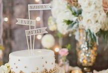 cake + sweet tables.