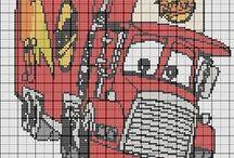 cross stitch autok,repülők,vonatok