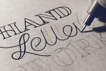 Lettering / Lettering, typography, calligraphy