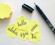 Modern Calligraphy / Hand Lettered | Brush Calligraphy | Faux calligraphy | Lettering