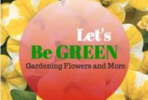 Let's Be Green, Gardening Flowers and More / This board is about being green from homes to everyday liitte things we can do to help mother earth. Gardening and flowers.