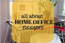 Home Office Designs / Here are a few pictures for those of you that work at home. Great ideas for your office