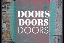 Doors Doors Doors / Who says your door has to be just plain old white or wood color. Here are some interesting colorful ideas.