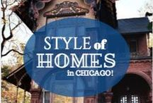 Style of Homes / This board shows all the different type of architectural styles of homes in the Chicago and Suburb areas.