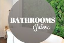 Bathrooms Galore / All types of bathrooms from funky, funny, elegant, or sophisticated  #bathrooms