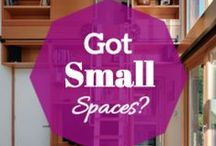 Small Spaces Made Easy / This board is dedicated to the small spaces, I remember when I was younger and lived in a 350ft square space. Let me tell ya it was complicated! LOL Decorating a small space is not easy. You have to find solutions for unexpected and unusual problems and you have to manage to fit all the basics and more in a small space without making it seem cluttered or over decorated.