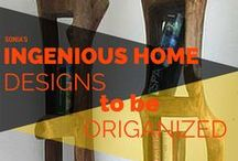 Ingenious Home Designs To be Organized / This board features some do-it-yourself designs to keep you organized. When there is a will there is a way http://www.soniafigueroarealtor.com