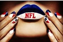 NFL Fashion, Beauty, Makeup, Nails / The best and most original NFL Nails, NFL Makeup and Fashion. Enjoy the game!