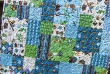 A Quilt made with Doggies on it :-)